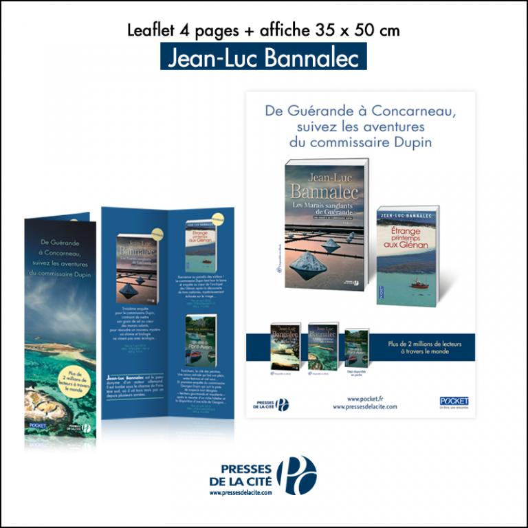 Flyer + affiche Presses de la Cité // Jean-Luc Bannalec