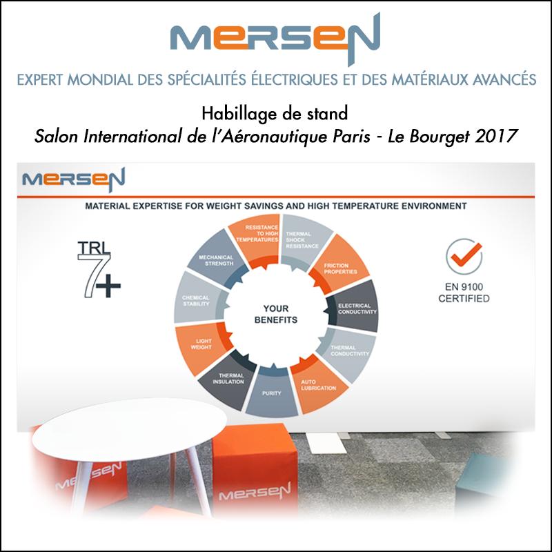 Habillage de stand MERSEN // Bâche pour le Salon du Bourget 2017