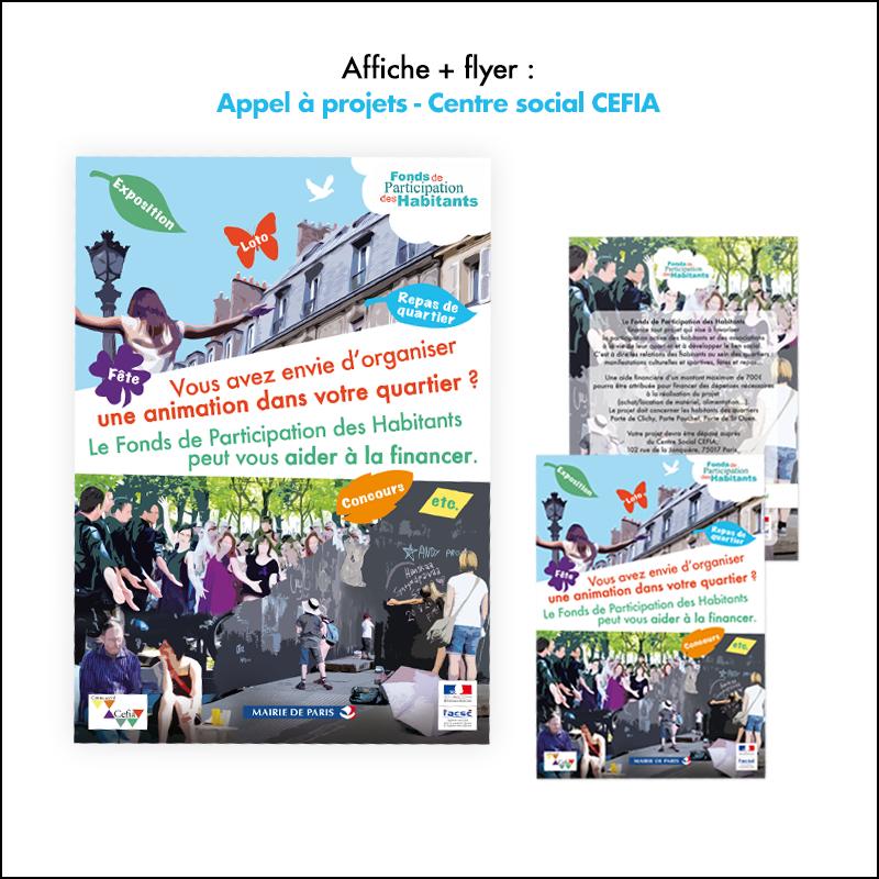 Création Affiche + Flyer Appel à projets // Centre social CEFIA