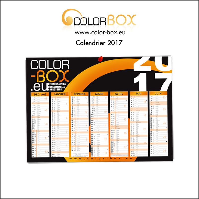 Création de calendrier 2017 // Colorbox.eu