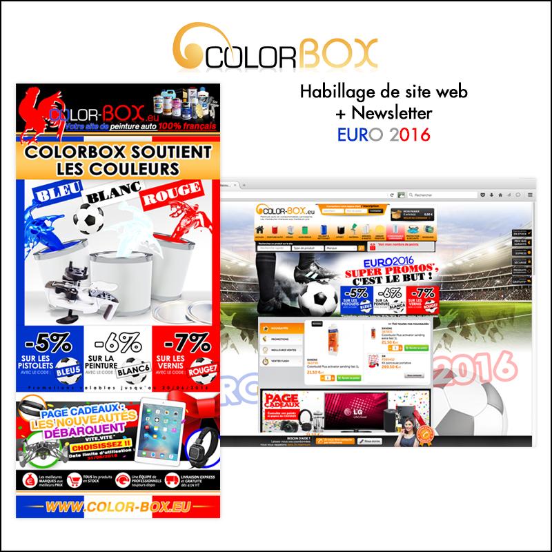 Habillage de site web + newsletter // Colorbox.eu