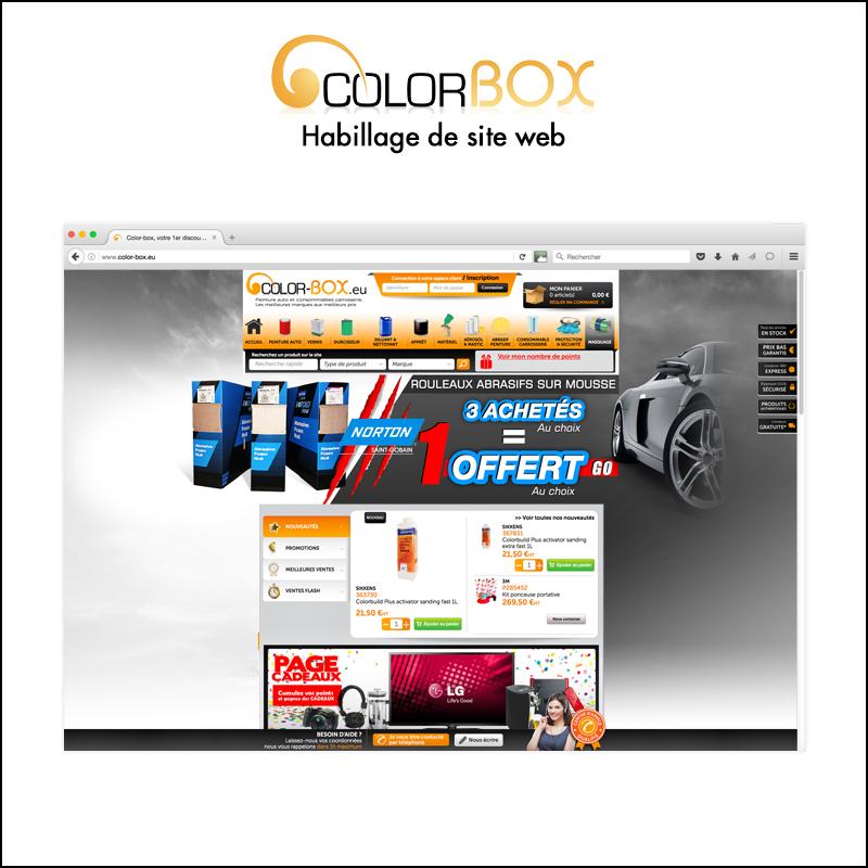 Habillage de site web // Colorbox.eu