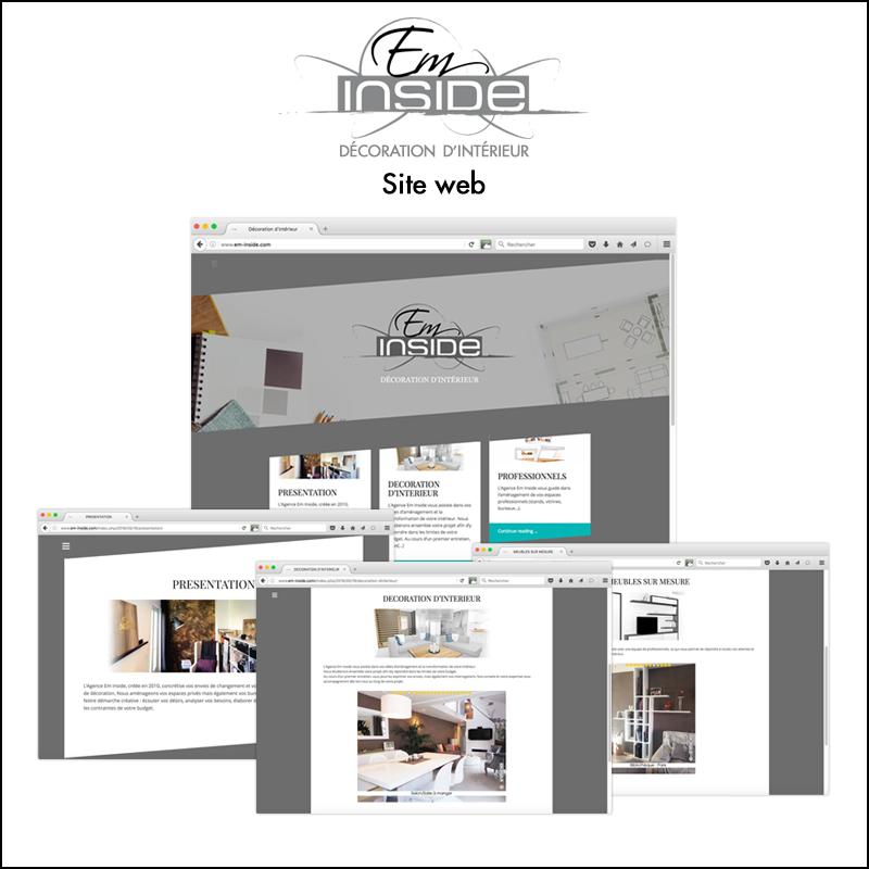 Direction artistique du site web Em\\\'Inside // Décoration d\\\'intérieur