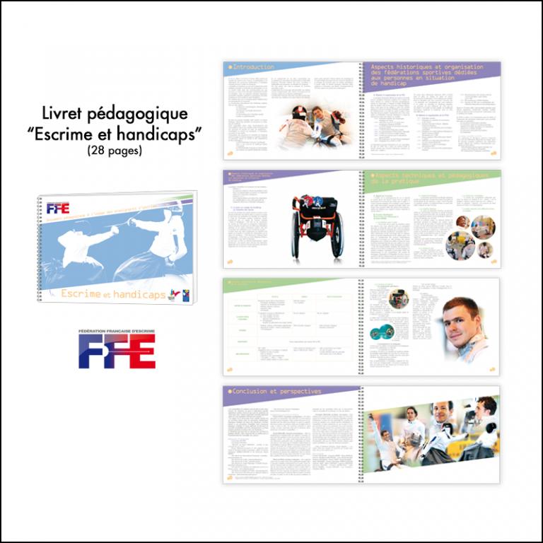 Création Livret pédagogique Escrime & handicaps // FFE