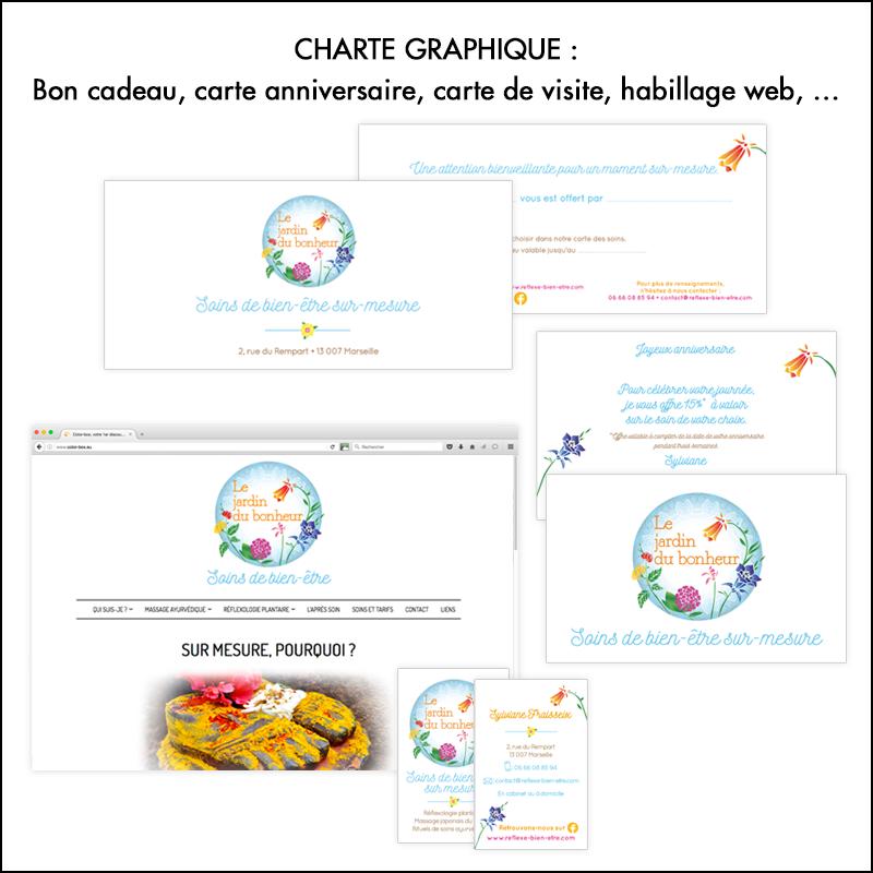 Charte graphique Le jardin du bonheur