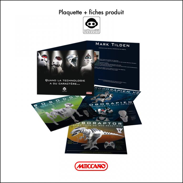 Création Plaquette + fiches produits Meccano