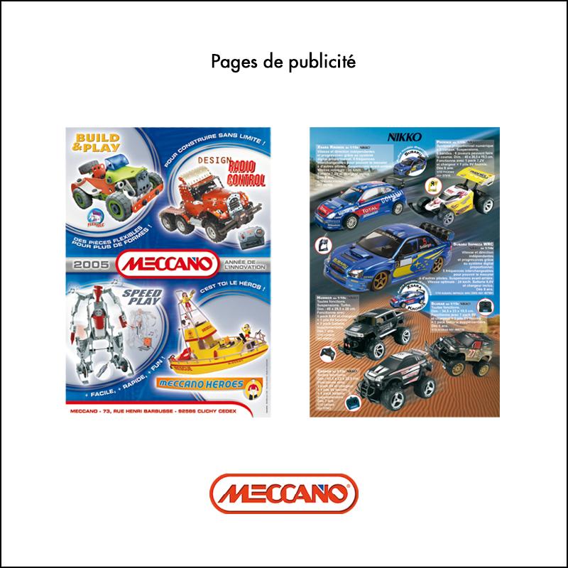 Création Pages de publicité // Meccano
