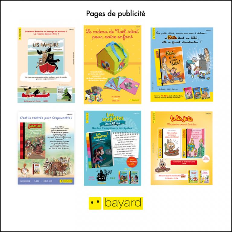 Création Pages de publicité Bayard