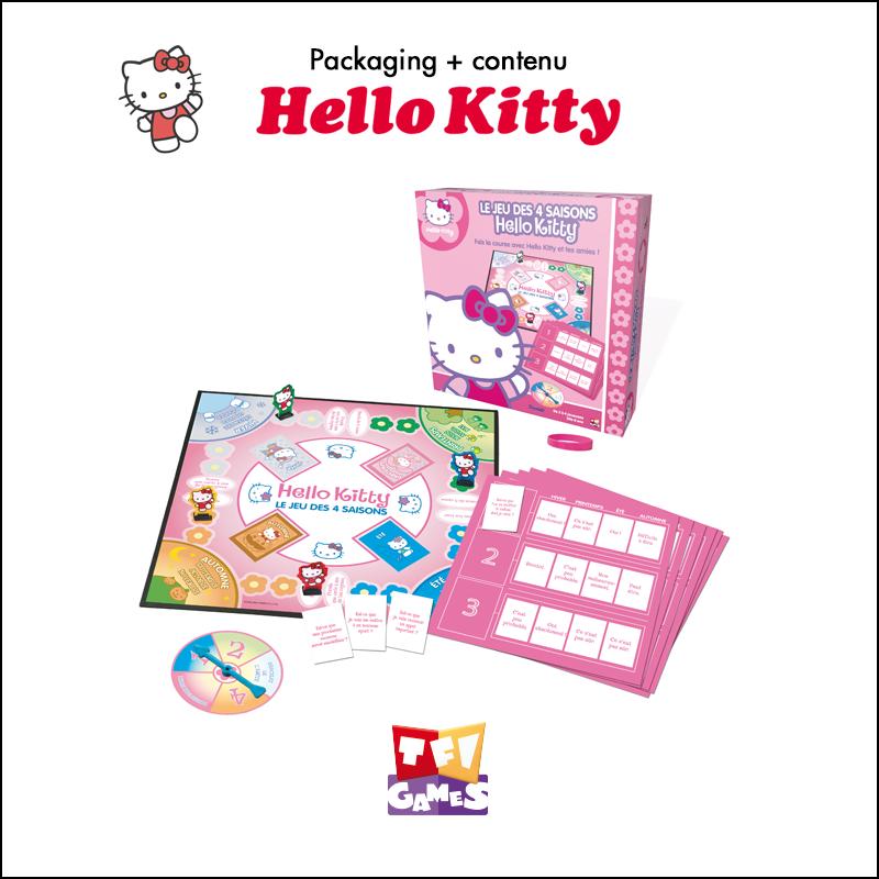 Packaging, contenu de jeu Hello Kitty