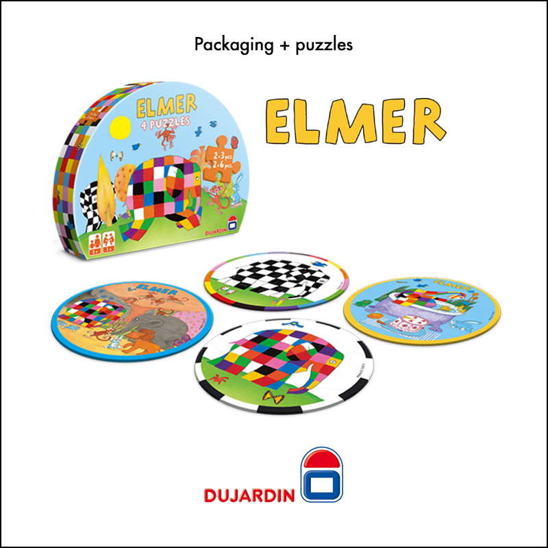 Packaging + puzzles Elmer