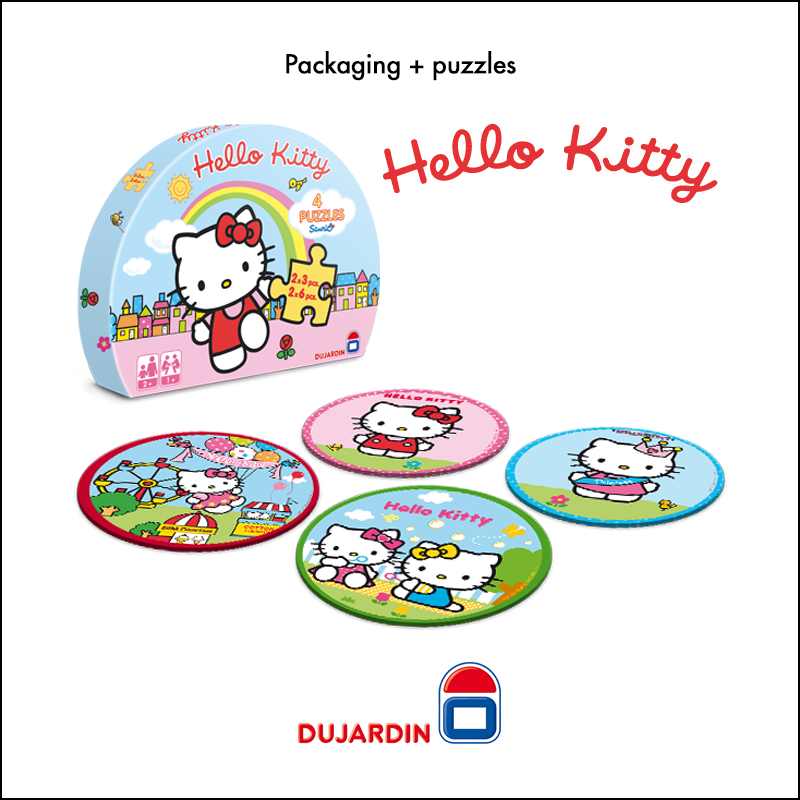 Packaging + puzzles Hello Kitty