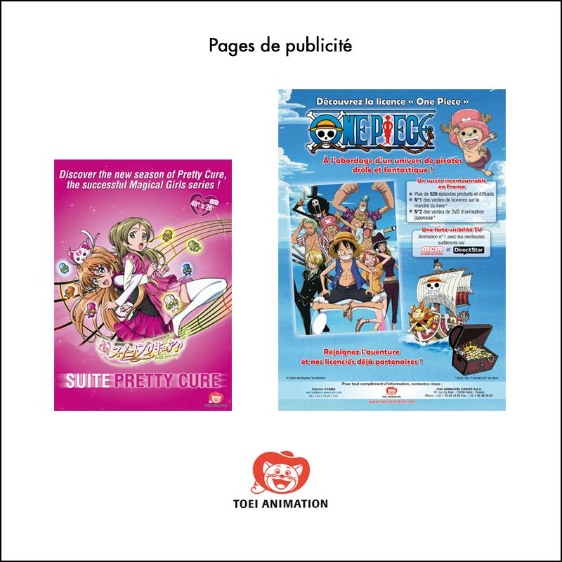 Création Pages de publicité // Toei Animation