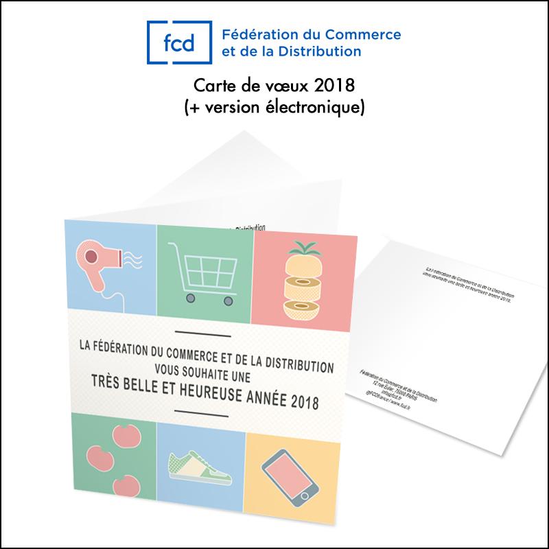 Création carte de vœux FCD 2018