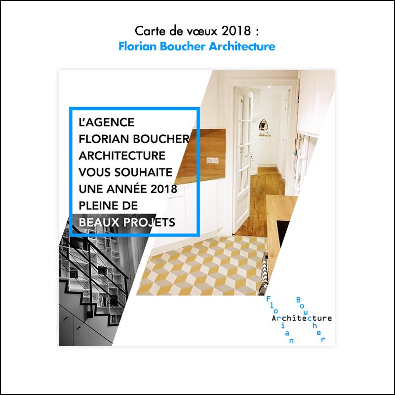 Carte de vœux 2018 // FB Archi
