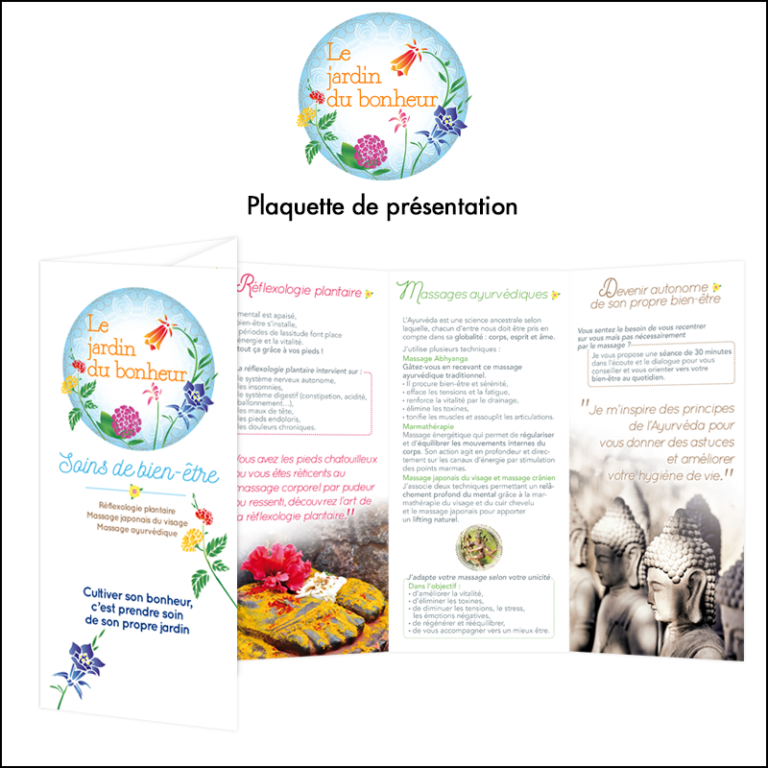 Création Plaquette Le Jardin du Bonheur // Bien être
