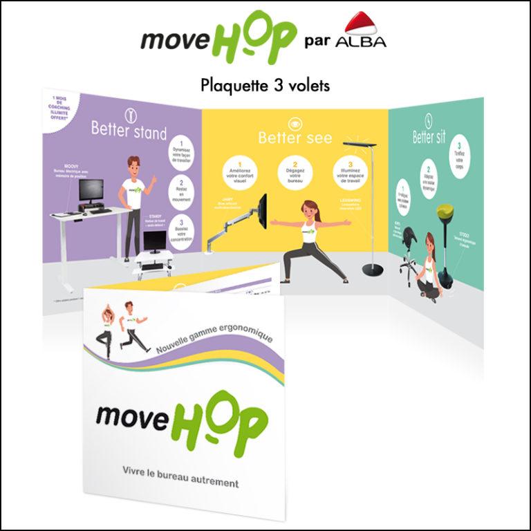 Création Plaquette Move Hop // Mobilier ergonomique