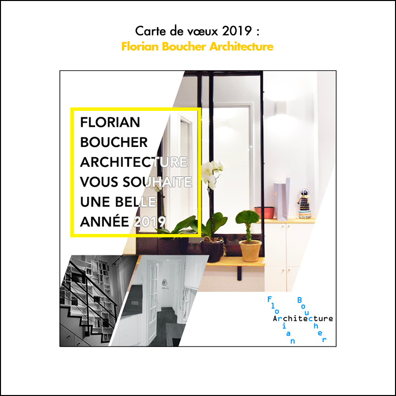 Carte de vœux 2019 // FB Archi