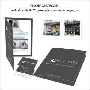 identite visuelle Les Loges Immobilier