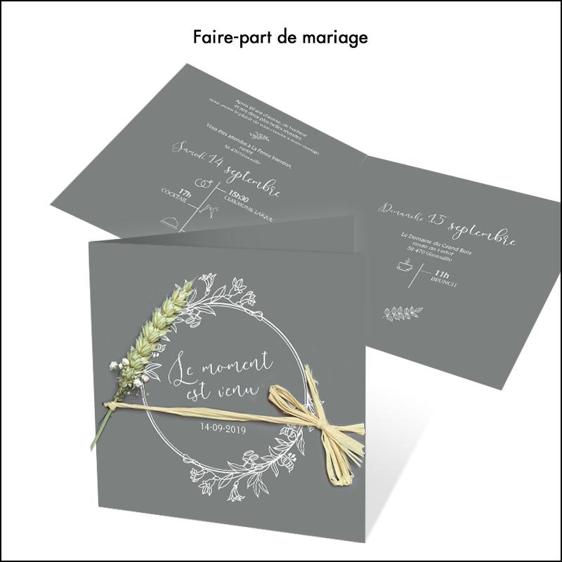 Création Faire-Part de mariage