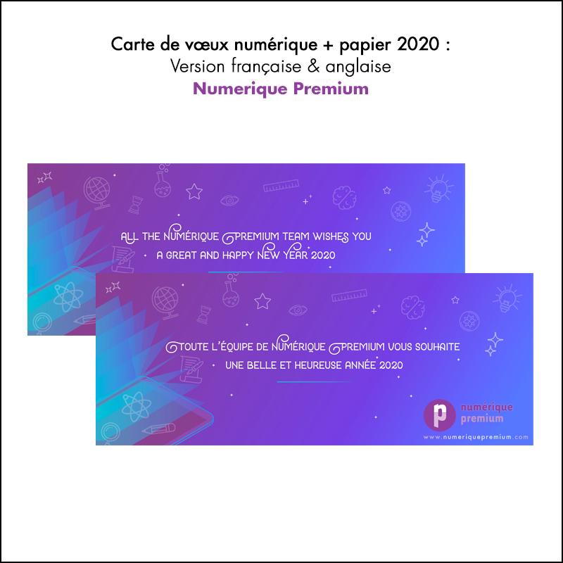Carte de vœux 2020 // Numérique premium