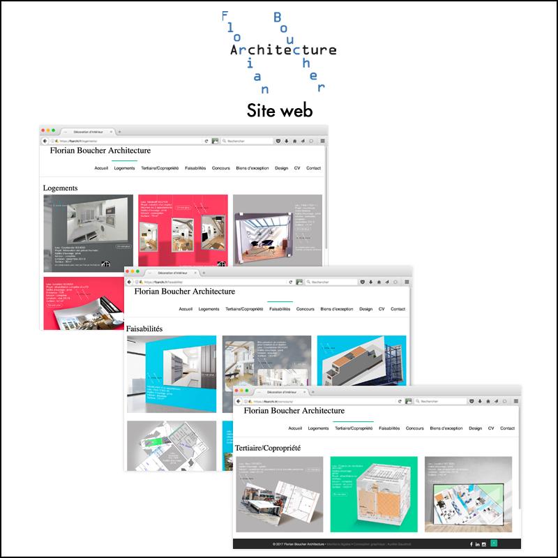 Direction artistique du site web de l\\\'agence Florian Boucher Architecture