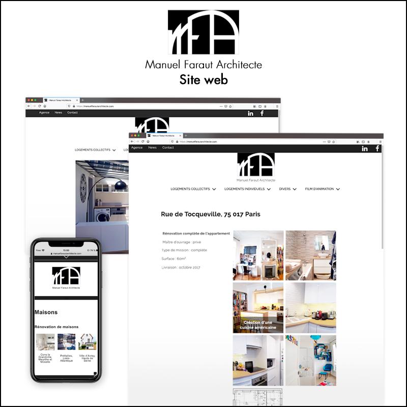 Direction artistique du site web de Manuel Faraut Architecte