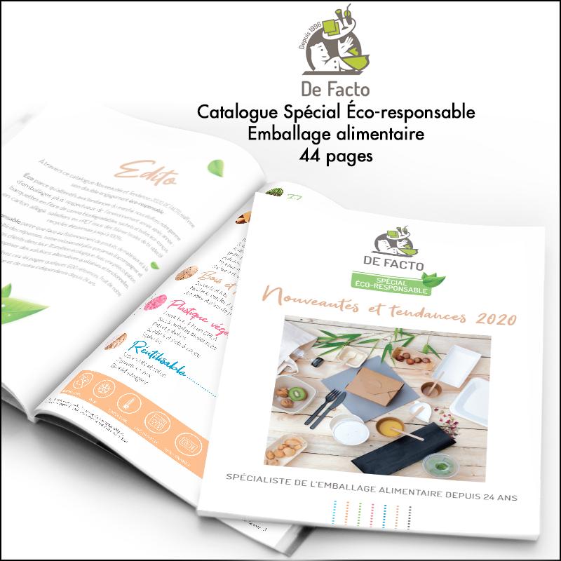 Création du catalogue De Facto // Emballage alimentaire éco-responsable