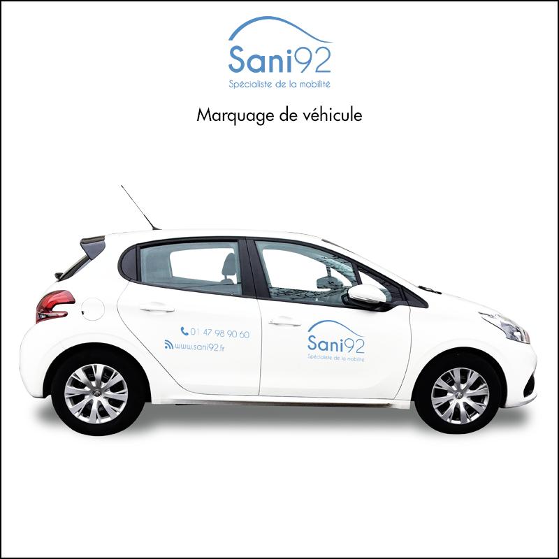 Sani92 - Marquage de véhicule