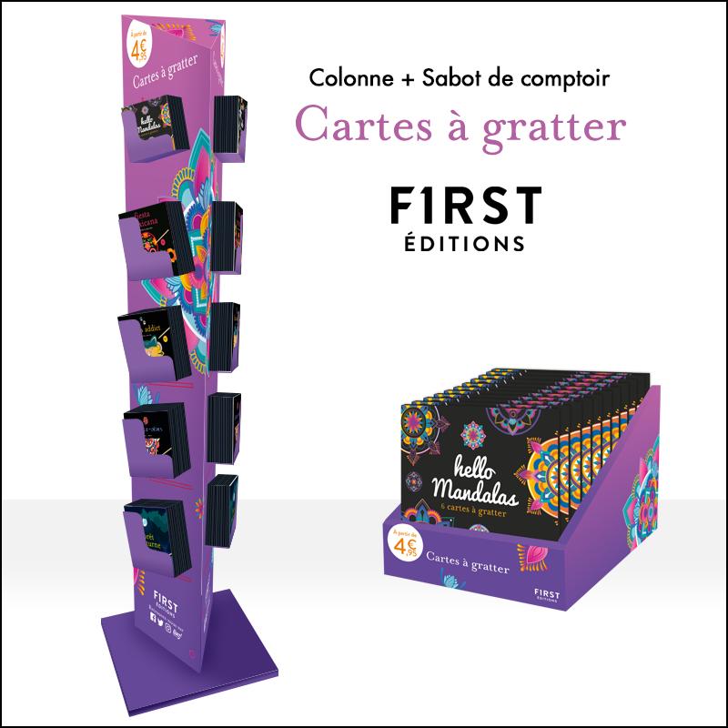 PLV Colonne + Comptoir First Editions - Cartes à gratter 2020