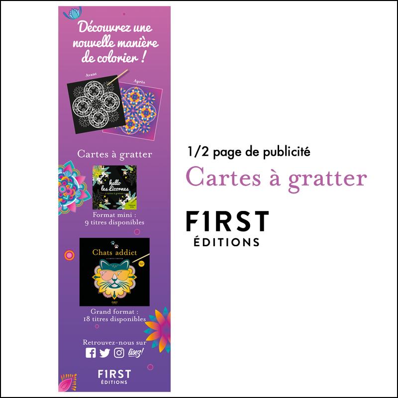 1/2 page de publicité // First Editions Cartes à gratter 2020
