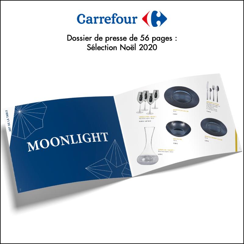 Création du dossier de presse Noël 2020 Carrefour // Art de la table