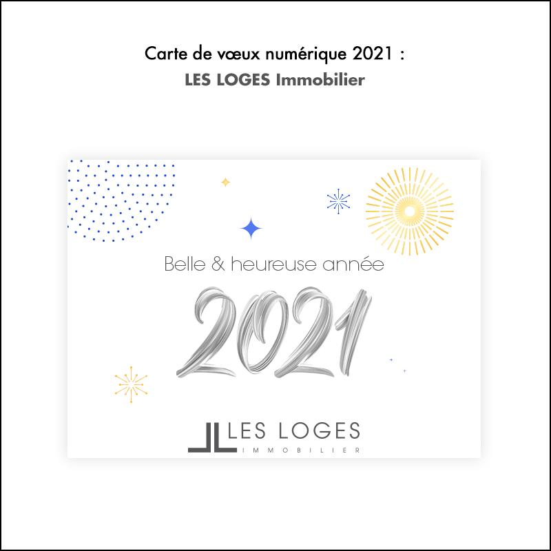 Carte de vœux 2021 // Les Loges Immobilier