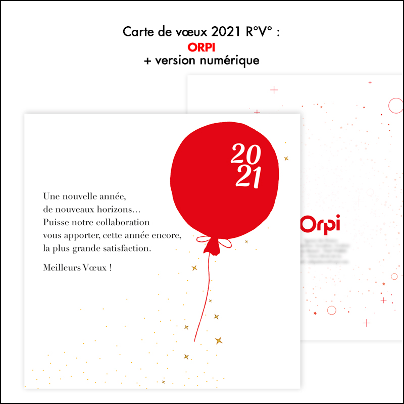 Carte de Vœux 2021 Orpi
