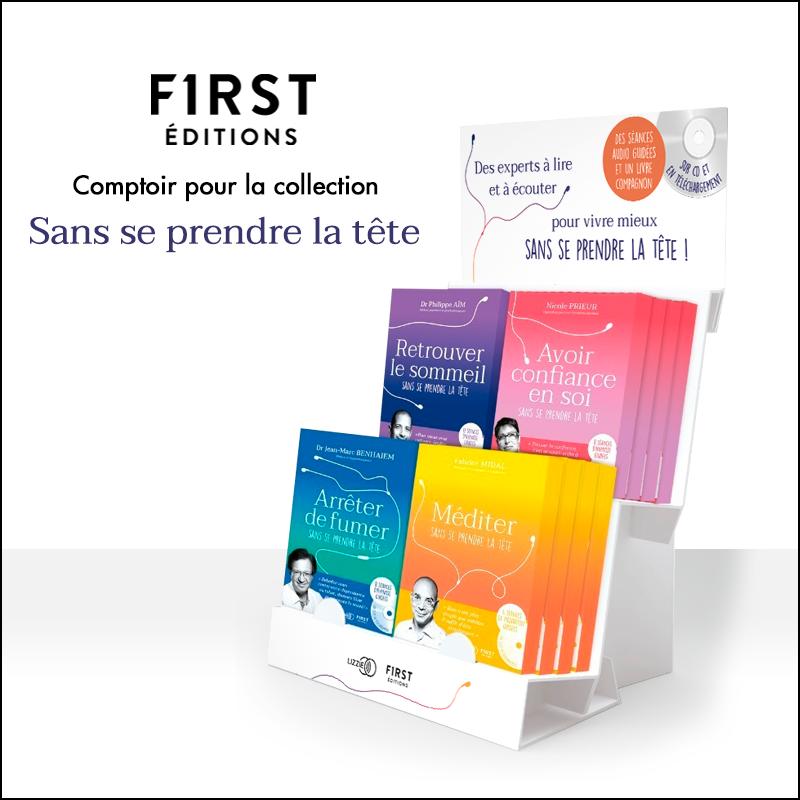 First editions PLV Comptoir pour collection Sans se prendre la tête
